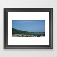 Boat Scene in Danang Framed Art Print