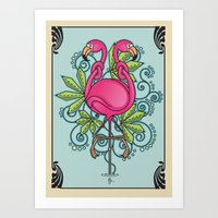 Knot A Flamingo Art Print