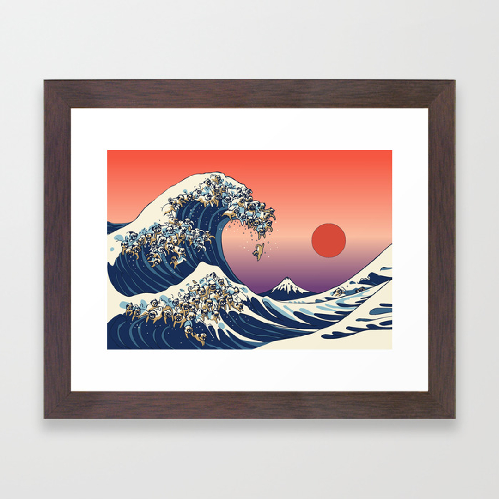 Dark Blue Framed Art Prints Society6