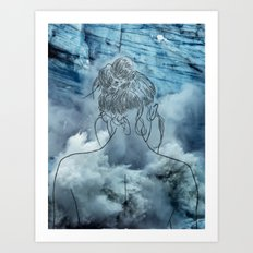 Lonely woman Art Print