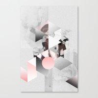 Geometric woman PINK Canvas Print