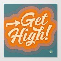 Get High 2 Canvas Print