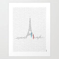Eiffel Tower | Paris, France | Esperantos | StoryScape #1 Art Print