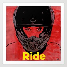 Ride / title Art Print