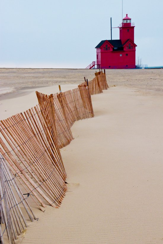 The Lighthouse Big Red in Holland Michigan No 0091 Art Print