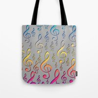 Singing under the Rainbow Tote Bag
