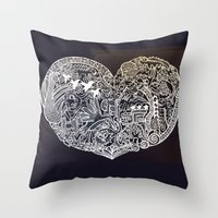 Ancient Figures Throw Pillow
