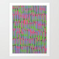 Multicoloured Brushstrokes Print Art Print