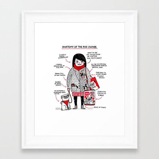 Anatomy of the Pug Owner Framed Art Print
