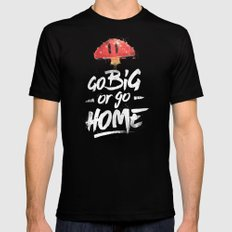 Go Big or Go Home Mario Inspired Smash Art Mens Fitted Tee Black SMALL