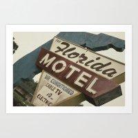 Florida Motel Art Print