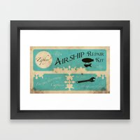 Airship Repair Kit Framed Art Print