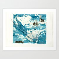 Mermaid Of Zennor Collag… Art Print