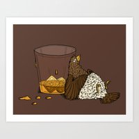 Thirsty Grouse - Colored! Art Print