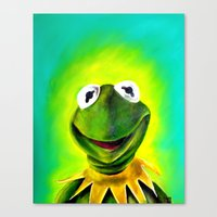 The Muppets- Kermit the Frog Canvas Print