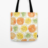 Orange Print Tote Bag