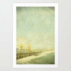 Santa Monica Ferris Wheel Art Print
