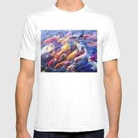 Koi Krazy Mens Fitted Tee White SMALL