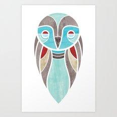owl colour Art Print
