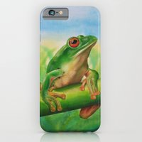 iPhone & iPod Case featuring Green Treefrog by Amy Fan
