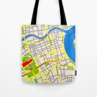 Shanghai Map Design Tote Bag
