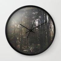 Of light & trees Wall Clock
