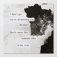 tsunami tides in my eyes Canvas Print