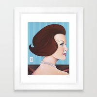 Girl With Pearls Framed Art Print