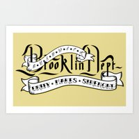 Brooklyn Tribute - White… Art Print