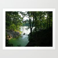 New York Central Park Lake Art Print