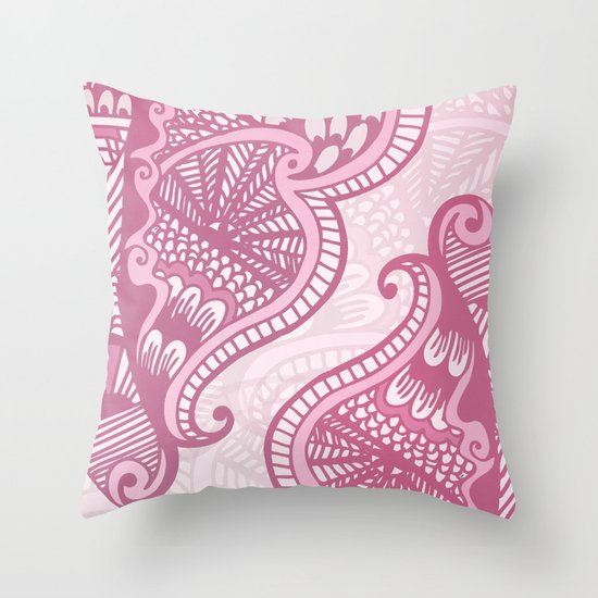 Henna Pattern Throw Pillow