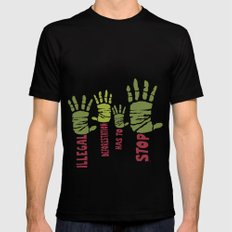Deforestation has to stop Mens Fitted Tee Black SMALL