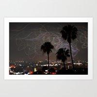 Los Angeles At Night Art Print