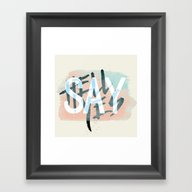 Say Hell Yes! Framed Art Print
