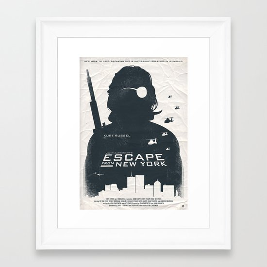 John Carpenter's Escape From New York Framed Art Print