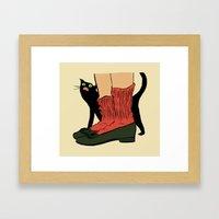 Hungry Cat Framed Art Print