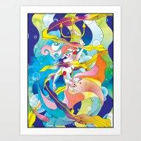 King Triton's Daughter Art Print