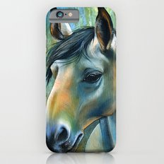 Horse in Blue Slim Case iPhone 6s