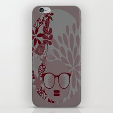 Afro Diva : Burgundy Sophisticated Lady  iPhone & iPod Skin