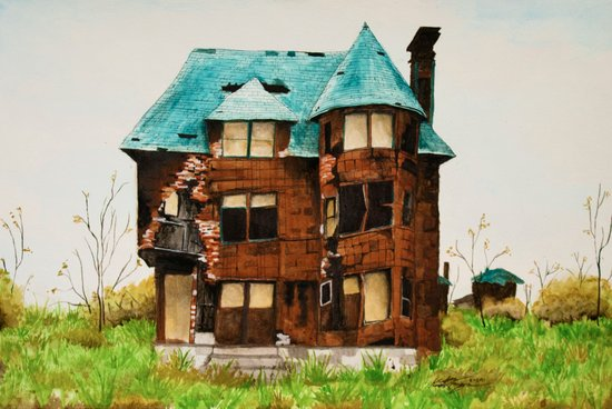 Abandoned House in Detroit Art Print