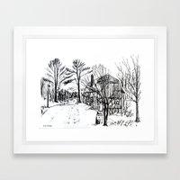 'Old Barn Near Corning' … Framed Art Print