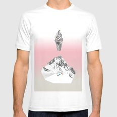 Domestic landscape SMALL Mens Fitted Tee White