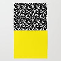 Memphis Black and Yellow 80s Rug
