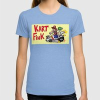 Kart Fink Big Bro! Womens Fitted Tee Tri-Blue SMALL
