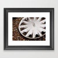 Hubcap Framed Art Print