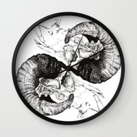 Skull study Wall Clock