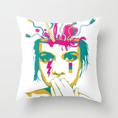 Liquid thoughts:Girl Throw Pillow