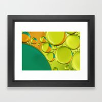 Bubble Abstract With A T… Framed Art Print
