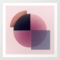 Round And Lines Art Print