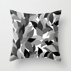 My grey leaves.  Throw Pillow